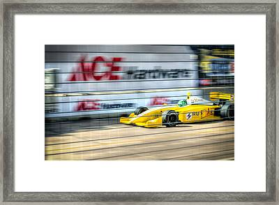 Conor Daly Framed Print by David Morefield