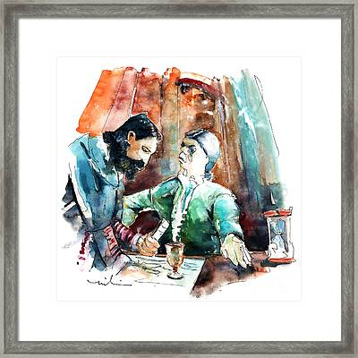 Conquistadores On The Boat In Vila Do Conde In Portugal Framed Print by Miki De Goodaboom
