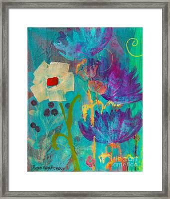 Conscious Living Framed Print by Robin Maria  Pedrero