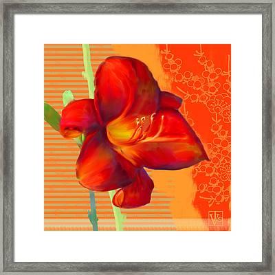 Consider The Lily Framed Print by Valerie Drake Lesiak