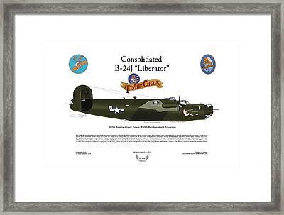 Consoldated B-24j Liberator Framed Print by Arthur Eggers