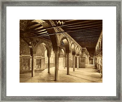 Constantine, Former Palace Of Ahmed Bey, Algiers, Neurdein Framed Print by Litz Collection