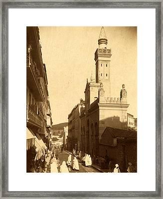 Constantine, National Mosque Street, Algiers, Neurdein Framed Print by Litz Collection