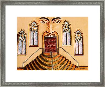 Constantly Tries To Escape From The Darkness That Is Outside Or Inside Framed Print by Paulo Zerbato