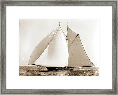 Constellation, Constellation Schooner, Yachts Framed Print by Litz Collection