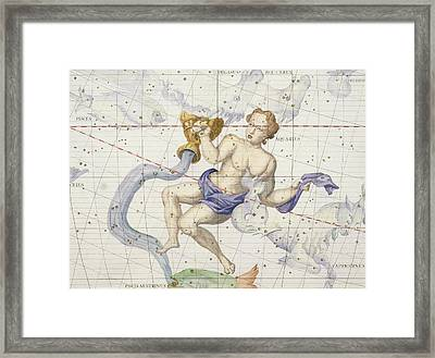 Constellation Of Aquarius Framed Print by Sir James Thornhill