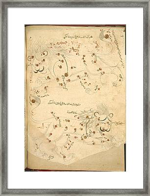 Constellation Of Leo Framed Print by British Library
