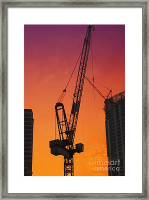 Construction Site Framed Print by Jelena Jovanovic