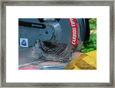 Construction The Chop Saw Framed Print by Paul Ward