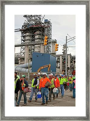 Construction Workers Framed Print by Jim West