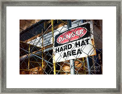 Construction Zone  Framed Print by Olivier Le Queinec