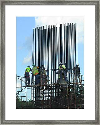 Construction4 Framed Print by Leon Hollins III