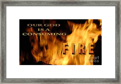 Consuming Fire Framed Print by Beverly Guilliams