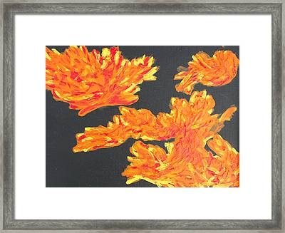 Consuming Fire Framed Print by Dayna  Lopez