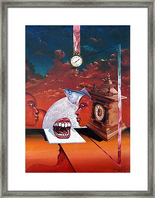 Consumption Of Time  Framed Print by Otto Rapp