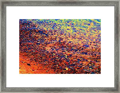 Contemplate The Waters Edge Framed Print by Ann Johndro-Collins