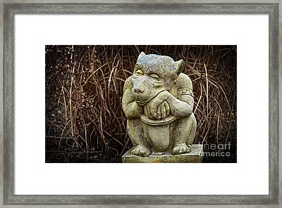 Contemplating Autumn Framed Print by Mary Machare