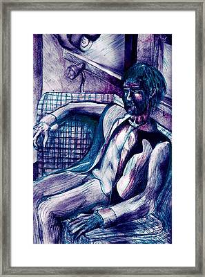 Contemplating Comfort Framed Print by Seb Mcnulty