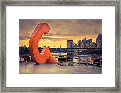 Contemplating The View Framed Print by Lukasz Lawreszuk