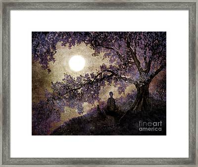 Contemplation Beneath The Boughs Framed Print by Laura Iverson