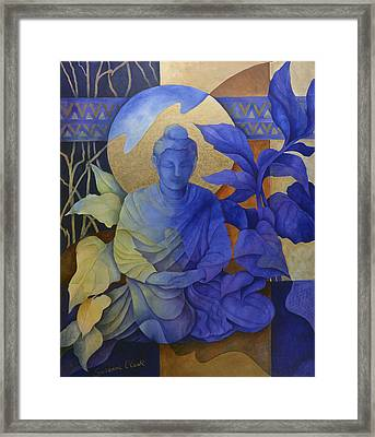 Contemplation - Buddha Meditates Framed Print by Susanne Clark