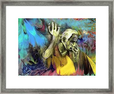 Contemplation Of Zeus Framed Print by Miki De Goodaboom
