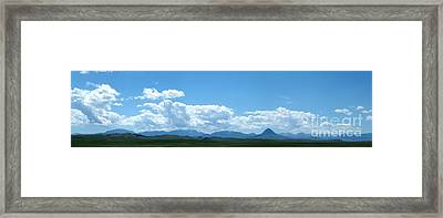 Continental Divide Panoramic 2 Framed Print by Matthew Peek