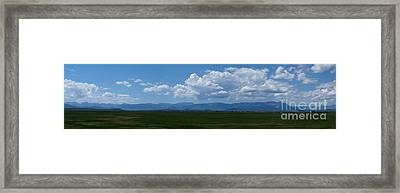 Continental Divide Panoramic 3 Framed Print by Matthew Peek