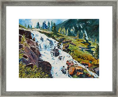 Continental Falls Framed Print by Mary Benke