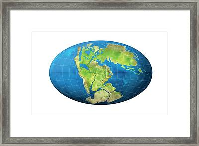 Continents 150 Million Years Ago Framed Print by Claus Lunau