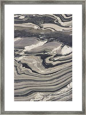 Contorted Phyllite Framed Print by Joyce Photographics
