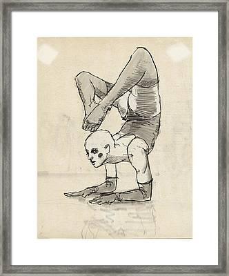 Contortionist Framed Print by H James Hoff