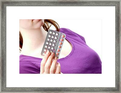 Contraceptive Pills Framed Print by Aj Photo