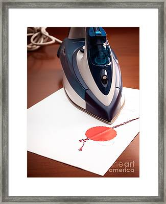 Contract Ironing Framed Print by Sinisa Botas