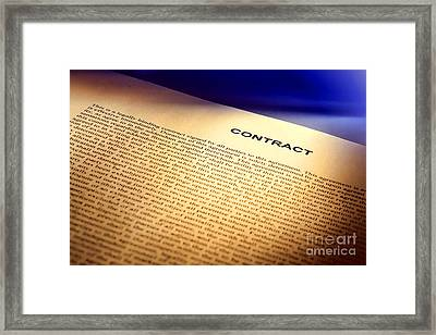 Contract Framed Print by Olivier Le Queinec