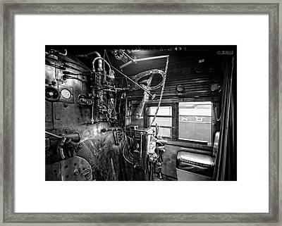 Controls Of Steam Locomotive No. 611 C. 1950 Framed Print by Daniel Hagerman