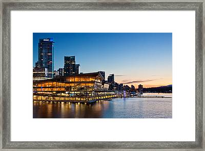 Convention Centre Sunset Framed Print by Alexis Birkill