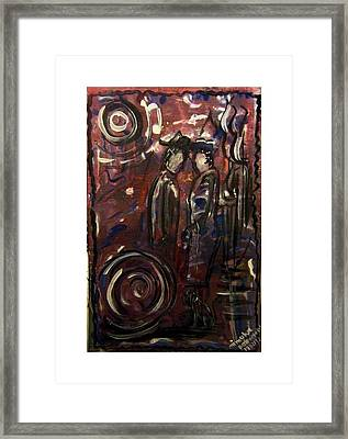 Conversation In The Park Framed Print by Mimulux patricia no
