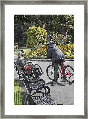 Conversation Place Belfast Ireland Framed Print by Betsy C Knapp