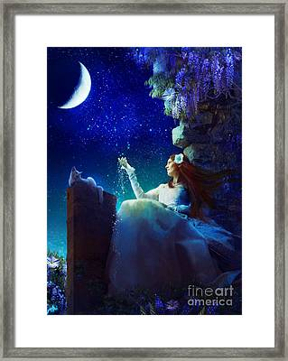 Conversation With The Moon Framed Print by Aimee Stewart