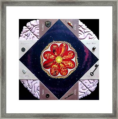 Convoluted Cootie Catcher Framed Print by Elizabeth Criss
