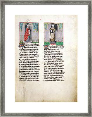 Convoytise And Avarice Framed Print by British Library