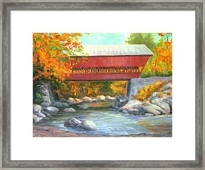 Conway Covered Bridge #47 Framed Print by Elaine Farmer