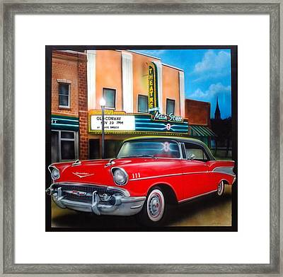 Conway Main Street Theatre Framed Print by Amatzia Baruchi