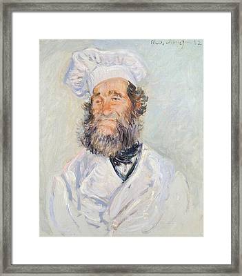 Cook Framed Print by Claude Monet