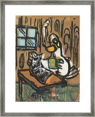 Cooked Goose Framed Print by Mathew Luebbert