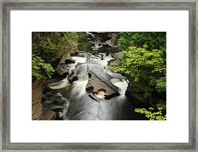 Cookie Cutter Falls Framed Print by Thomas Pettengill