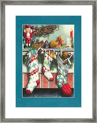 Cookies For Santa Framed Print by Lynn Bywaters