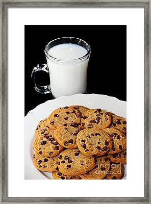 Cookies - Milk - Chocolate Chip - Baker Framed Print by Andee Design