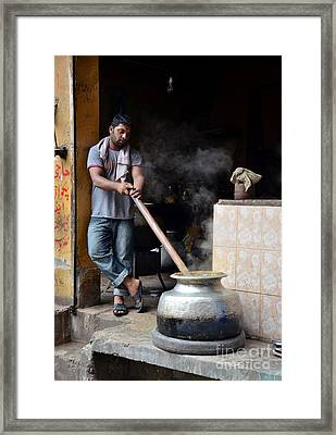 Cooking Breakfast Early Morning Lahore Pakistan Framed Print by Imran Ahmed